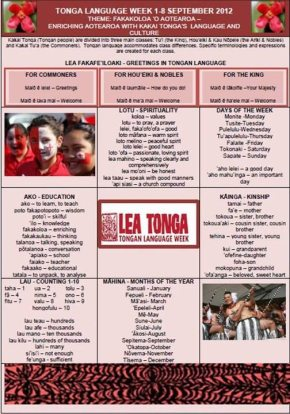 Tongan Language Week Poster