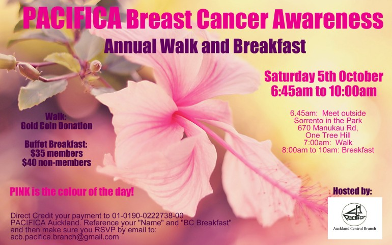 PACIFICA Breast Cancer Awareness Walk and Breakfast